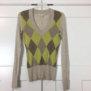 Banana Republic Factory • Tan Argyle Sweater